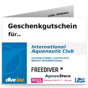 Geschenkgutschein Apnoekurs IAC Freediver Level 1